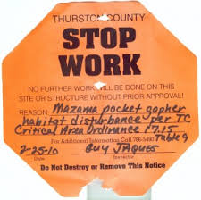 stop work order - pocket gopher