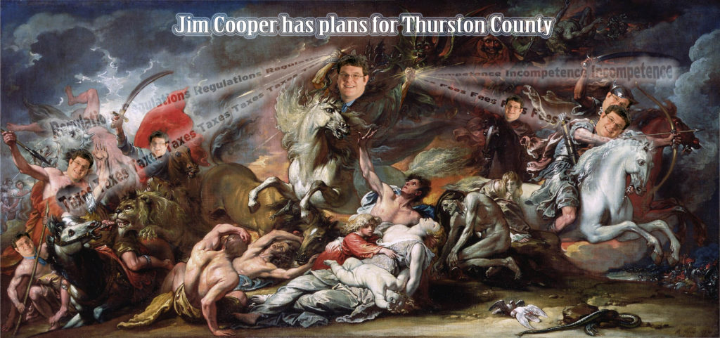Jim Cooper has terrible plans for Thurston County