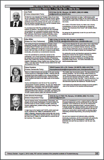 Modified 2016 Thurston County Voter's Guide Commission District 1 draft - Allen Miller Rule