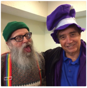 The Columbian editor (in purple hat) will likely be the last to notice problems in Clark County