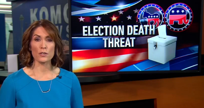 Thurston County Democrat Party Official's death threats made KOMO TV news
